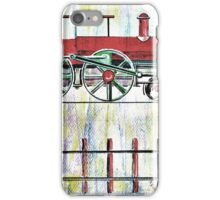 red locomotive iPhone Case/Skin