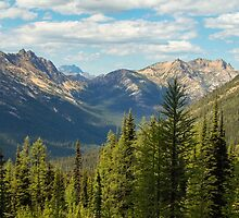 North Cascades View from near Methow Pass by lkamansky