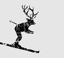 Ski Stag (Vintage) Deer by theshirtshops