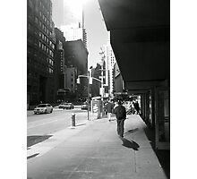 Bright shadows of Broadway Photographic Print