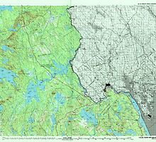 Maine USGS Historical Map Calais 807827 1994 100000 by wetdryvac