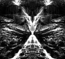 Eastatoe Falls Mirrored by Chris Summerville