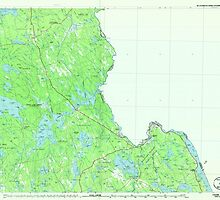 Maine USGS Historical Map Calais 807828 1986 100000 by wetdryvac