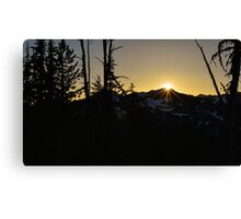Cascade Sunset Canvas Print