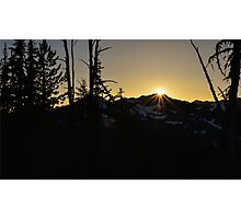 Cascade Sunset Photographic Print