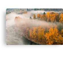 Fog in the Fall Canvas Print