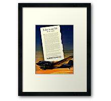 War Bonds Airline Poster - WW2 Propaganda Poster  - World War II / World War 2 Framed Print