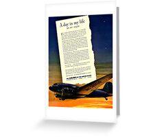 War Bonds Airline Poster - WW2 Propaganda Poster  - World War II / World War 2 Greeting Card