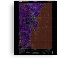 Maine USGS Historical Map Camden 104991 2000 24000 Inversion Canvas Print