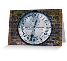 The Shepherd Gate Clock Greeting Card