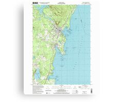 Maine USGS Historical Map Camden 104991 2000 24000 Canvas Print