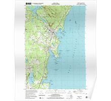 Maine USGS Historical Map Camden 104991 2000 24000 Poster