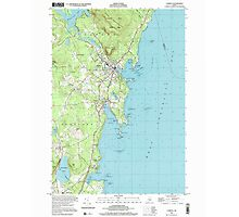 Maine USGS Historical Map Camden 104991 2000 24000 Photographic Print