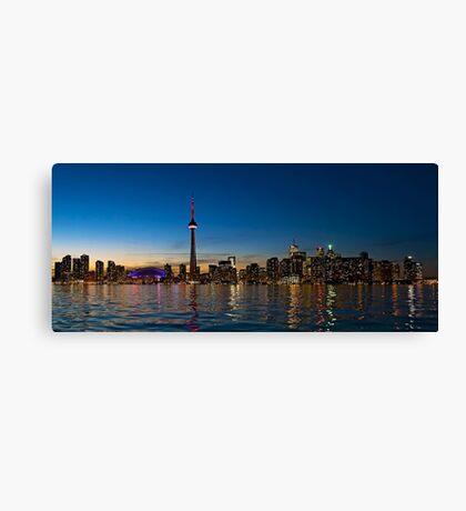 Toronto Skyline at dusk Canvas Print