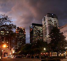 Stormy Birmingham Night by RDJones