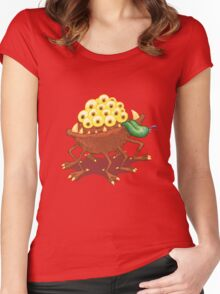 Can he swim? Women's Fitted Scoop T-Shirt