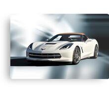 2014 Corvette Convertible 'Studio Blue' Metal Print