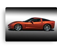 2005 Corvette Coupe Studio Profile Canvas Print