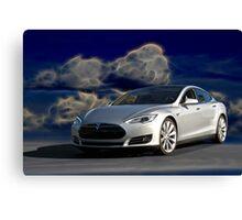 2014 Tesla Model S 'Sports Sedan' Canvas Print