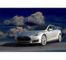 2014 Tesla Model S 'Sports Sedan' Photographic Print