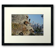 Corporate Climbers Framed Print
