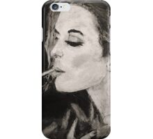 Smoking Lady  iPhone Case/Skin
