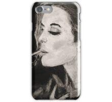 Smoking Lady  iPhone Case/Skin