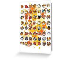 Pokemon - Fire invasion (White background) Greeting Card
