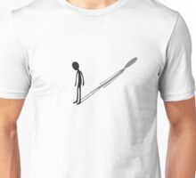 my shadow is taller than me. Unisex T-Shirt