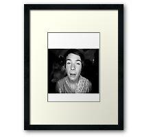 Chris in (a b&w) wonderland. Framed Print