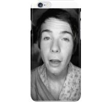 Chris in (a b&w) wonderland. iPhone Case/Skin
