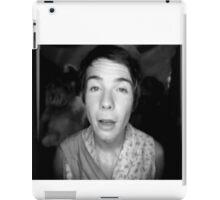 Chris in (a b&w) wonderland. iPad Case/Skin