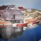 New England Fishing Village by Kate Eller