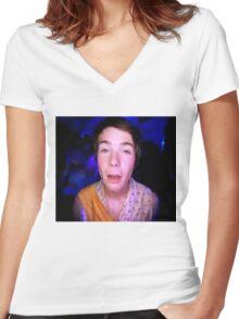Chris in wonderland Women's Fitted V-Neck T-Shirt