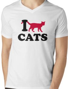 I love cats Mens V-Neck T-Shirt