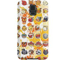 Pokemon - Fire invasion (White background) Samsung Galaxy Case/Skin