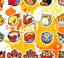 Pokemon - Fire invasion (White background) Sticker