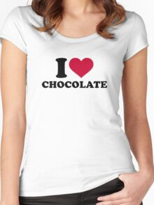 I love Chocolate Women's Fitted Scoop T-Shirt
