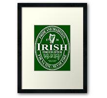Irish Firefighter - oval Framed Print