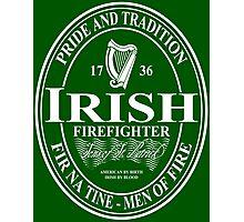 Irish Firefighter - oval Photographic Print