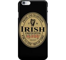 Irish Firefighter - oval label iPhone Case/Skin