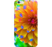 Abstract dahlia flower iPhone Case/Skin