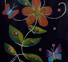 Beauty And The Butterflies by Kathleen   Sartoris