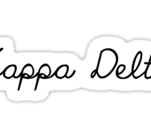 Kappa Delta Girly Script Sticker