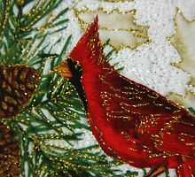 Quilted Cardinal by VJKstudios