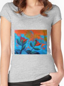 Dancing Tulips Women's Fitted Scoop T-Shirt