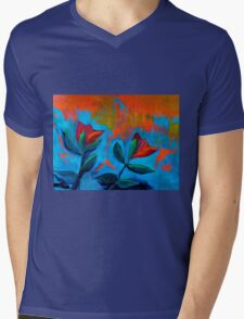Dancing Tulips Mens V-Neck T-Shirt