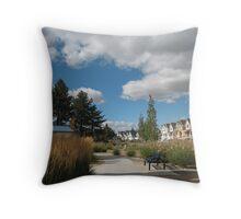 A Neighborhood Walk Throw Pillow