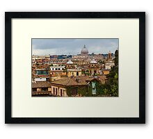 Messy, Fascinating and Wonderful - the Roofs of Rome Framed Print