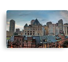 Boston from my hotel room Canvas Print